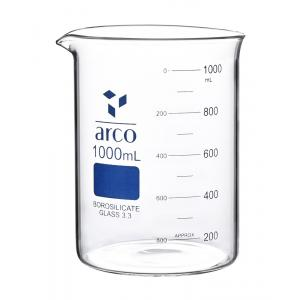 Arco Beaker, Borosilicate 3.3, Low Form, Capacity-50ml